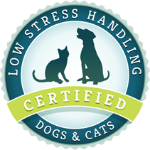 Low Stress Handling Dogs & Cats Certified Logo